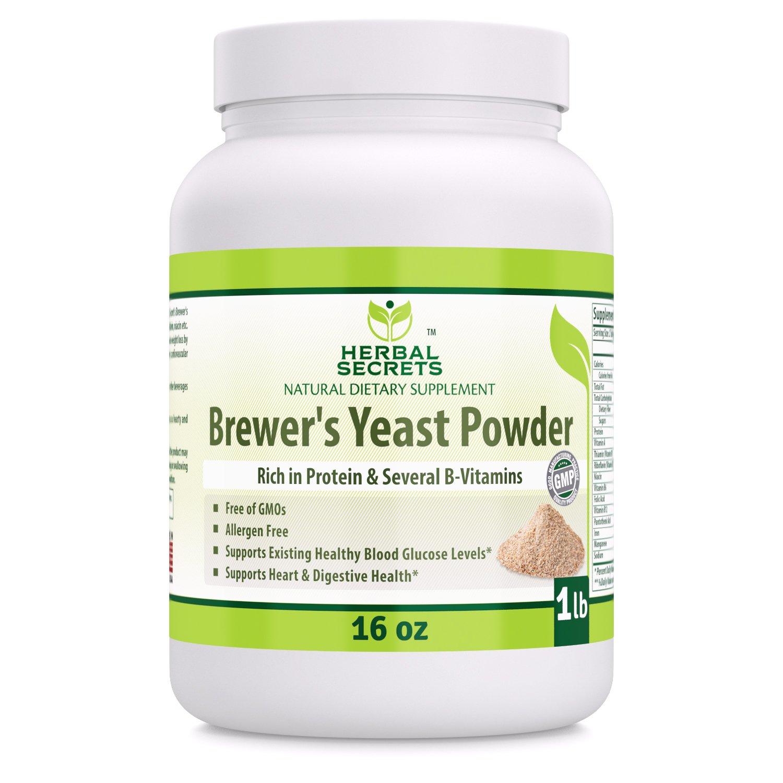 Herbal Secrets Brewer's Yeast Powder (16 oz) 1 lb Gmo-Free - Allergen Free - Supports Heart & Digestive Health