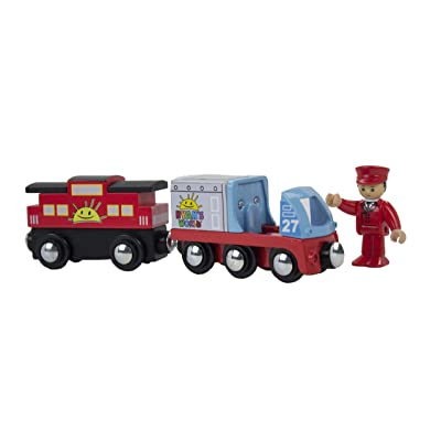 KIDS PREFERRED Ryan's World Ryan Conductor and Train with Engine and Caboose: Toys & Games
