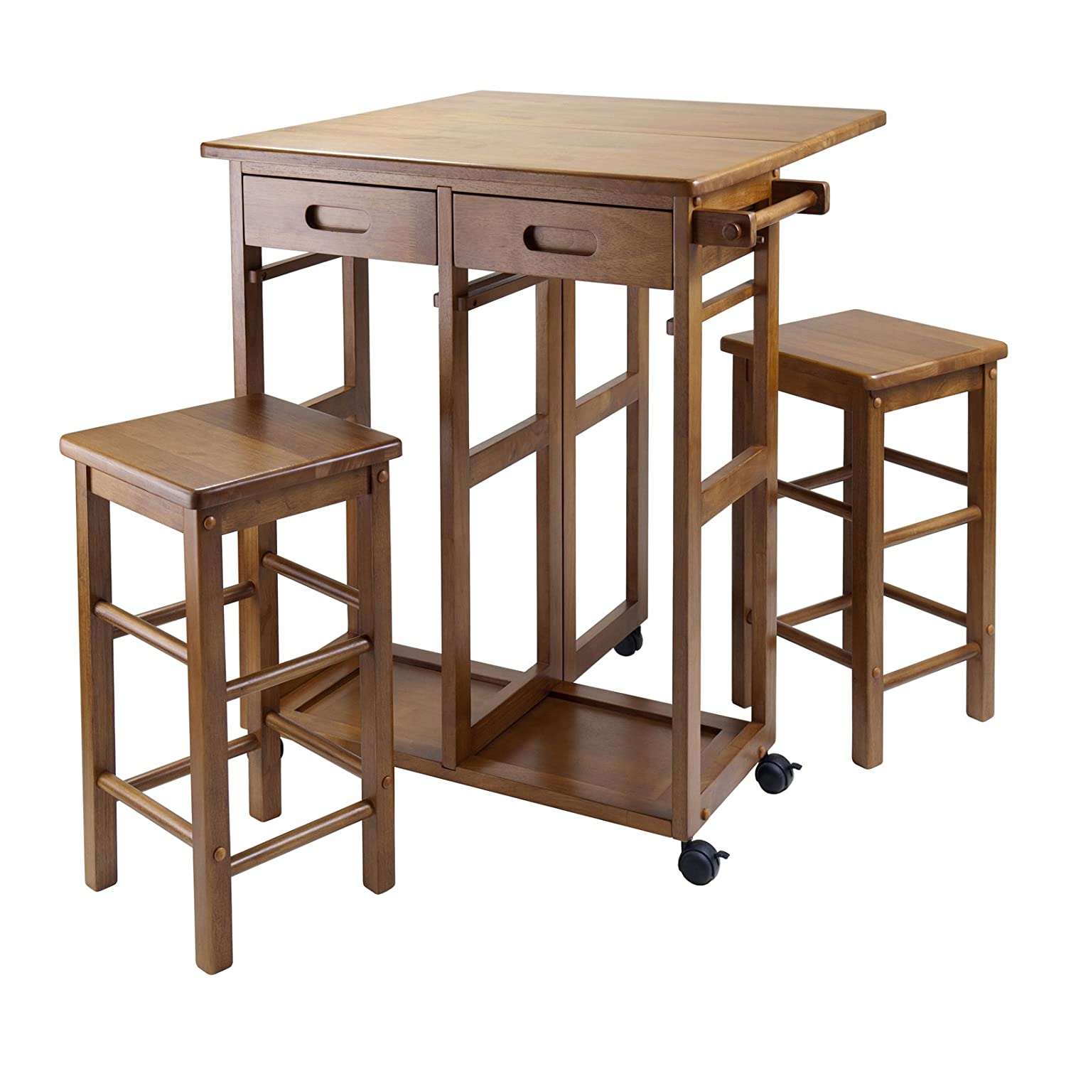 amazoncom winsome wood beachwood breakfast bar table chair sets breakfast bars furniture