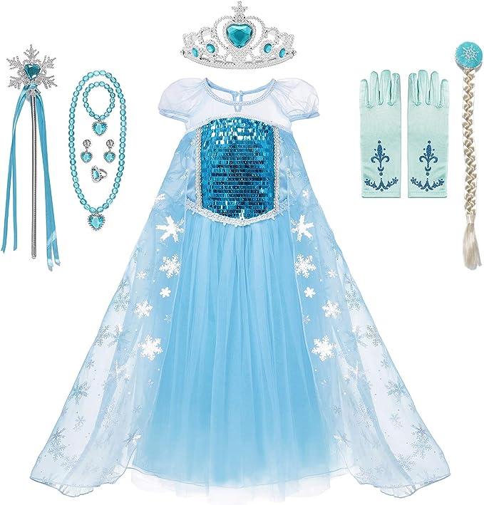 Amazon.com: MUABABY - Disfraz de princesa con lentejuelas ...