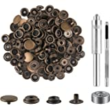 100 Pieces (25 Sets) Snap Fastener Kit Tool 5/8 inches (15mm) Snap Button kit Snaps for Leather Snap Fasteners Kit for Leathe