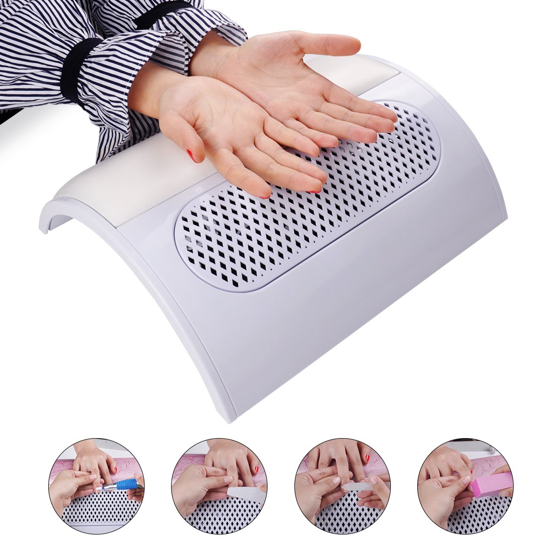 Amazon.com : Biutee 3 Fans Powerful Nail Dust Suction Fan Collector ...