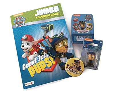 Paw Patrol Coloring Book 24 Piece Paw Patrol Puzzle 1 Paw Patrol Mini Figure And 1 Paw Patrol Magic Wash Cloth Paw Patrol Book And Toys Gift Set