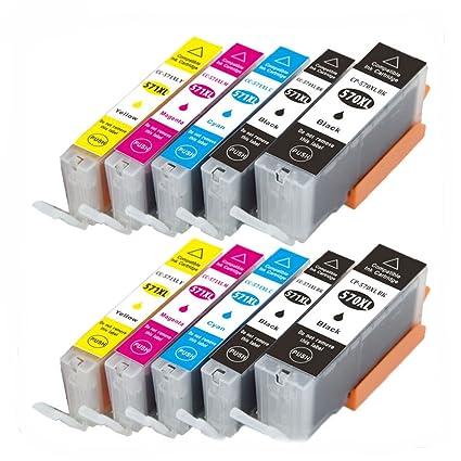 Karl Aiken Compatible 10 x Canon PGI-570 CLI-571 cartucho de tinta ...