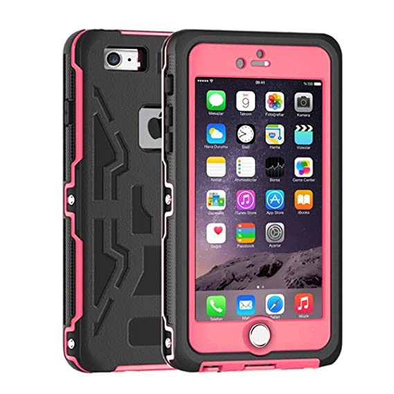 new arrivals 22426 b8666 iPhone 6S Waterproof Case, iThrough iPhone 6 Waterproof Case, Dust Proof,  Snow Proof, Shock Proof, Heavy Duty Full Body Protective Carrying Case,  Hard ...