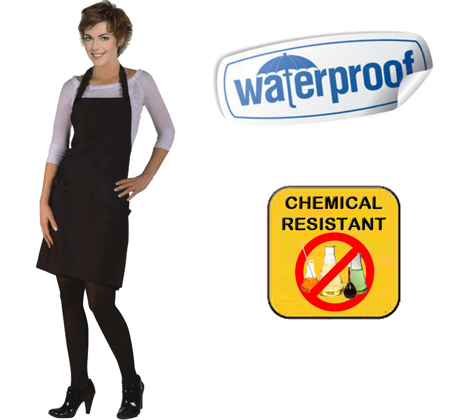 10 NEW Waterproof Chemical Proof Aprons Stylist Technician Apron Spa Hair Salon