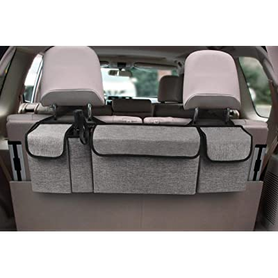 YOUDENOVA Backseat Trunk Organizer Car Storage Organizers with Large Pockets for SUV and Many Vehicles - Provide More Storage Trunk Space and Free Your Trunk: Home Improvement