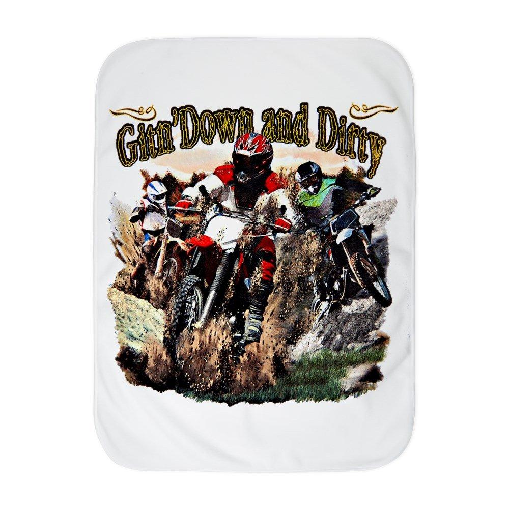Royal Lion Baby Blanket White Gitn' Down and Dirty Dirt Bikes