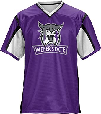Amazon Com Prosphere Weber State University Men S Football Jersey Scramble Clothing