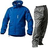 マックレインウェア(MAKKU RAIN WEAR)  DUAL ONE (デュアルワン) 耐久防水レインスーツ ウエア:マットブルー/パンツ:グレー EL AS-8000