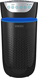 HoMedics® TotalClean™ 5-in-1 Tower Air Purifier – 360-Degree HEPA-Type Filtration With 3 Speeds, Pre-Filter, Auto-Off Timer, Nightlight for Small Rooms