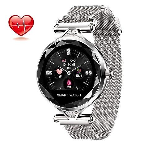 SHT Reloj Inteligente, IP 67 Impermeable Fitness Tracker Bluetooth Monitor de Ritmo cardíaco, Reloj