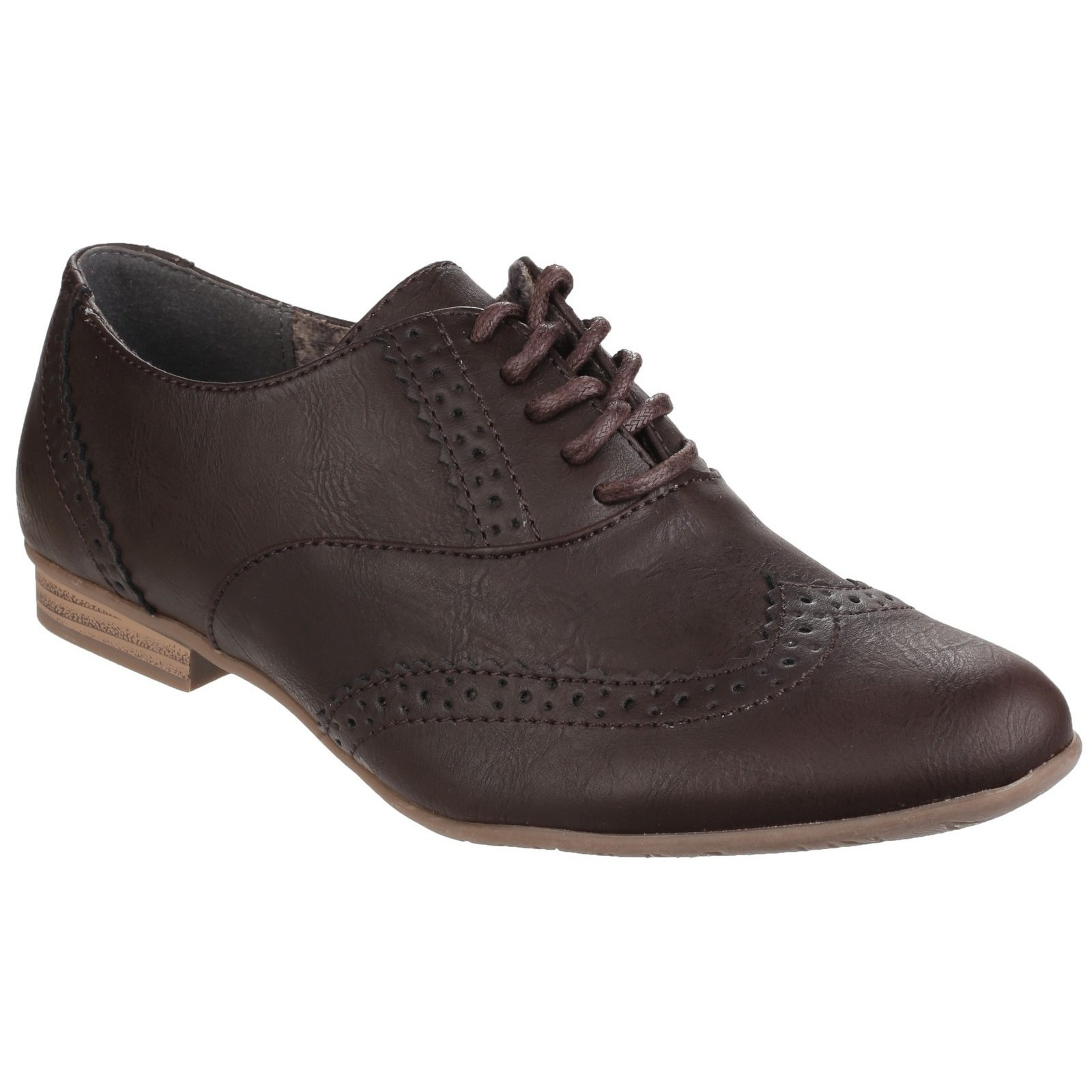 Divaz Womens/Ladies Levato Lace Up Perforated Brogues (9 US) (Brown) by Divaz