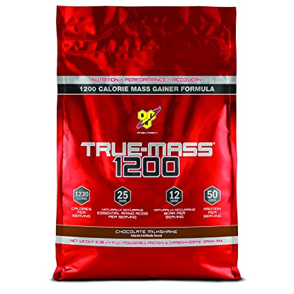 BSN 1200 True Mass - 4708 g (Chocolate Milkshake) Mass & Weight Gainers at amazon