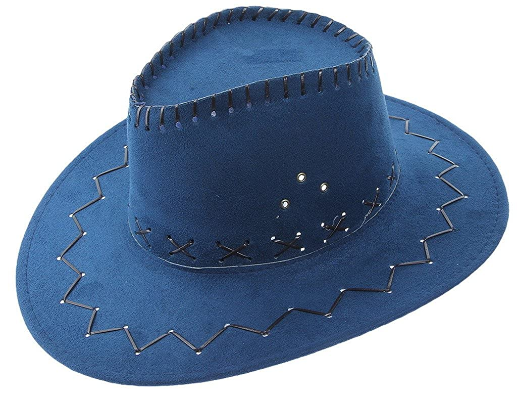 Adult West Cowboy Holes Solid Flat Sun Hat COMVIP Children