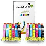 12 (2 Impostatos) Colour Direct Compatibile Cartucce d'inchiostro Sostituzione Per Epson Expression Foto XP-55 XP-750 XP-760 XP-850 XP-860 XP-950 XP-960 2 Impostatos 24XL