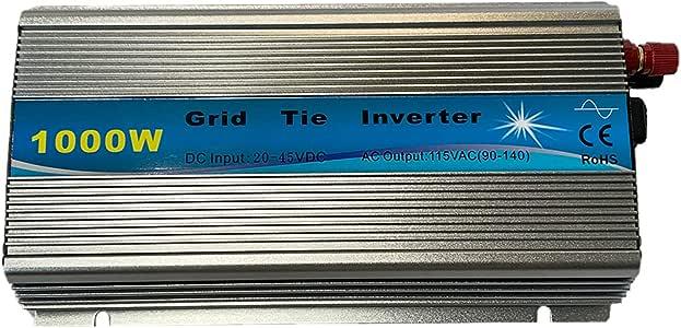 KRXNY 1000W Grid Tie Inverter 20-45V DC Input 110V AC Output Stackable MPPT Pure Sine Wave Solar Power for 24V 30V 36V Solar Panel