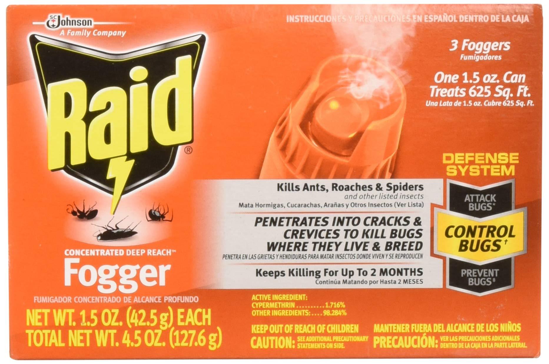 Raid 820421 4-Count Concentrated Deep Reach Fogger by Raid
