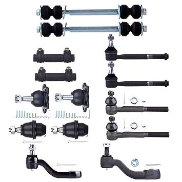 ECCPP Frontal Tie Rod Final Bola articulaciones y Pitman Correa de Distribución para Armas para 1995 1996 1997 1998 1999 Chevrolet K1500 K2500 (14pcs): ...