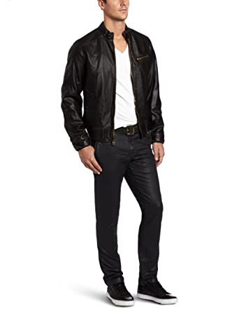 Levi's Men's Faux Leather Bomber Jacket, Black, Small at Amazon ...