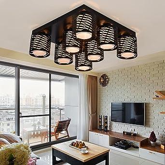 Homeny Moderne Kurze Hohle Metall Führte Kronleuchter Glas Schattierungen  Decke Kronleuchter Für Foyer