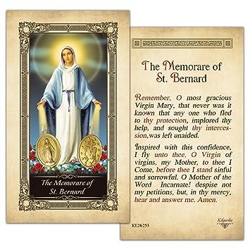 picture relating to Memorare Prayer Printable titled : The Memorare of St.Bernard Laminated Prayer