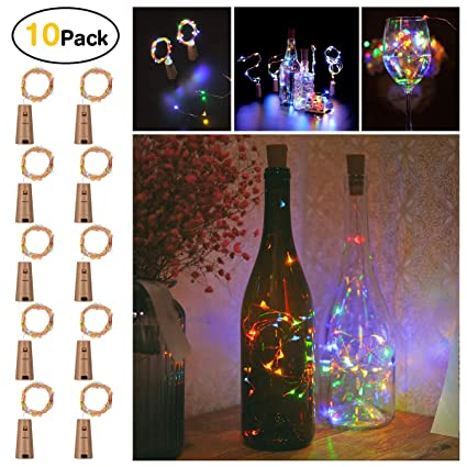 amazon com sanniu bottles lights 10 packs imitation cork copper rh amazon com