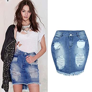 Amazon Com Gyoume Denim Dress Women Short Mini Skirt Jeans Dress