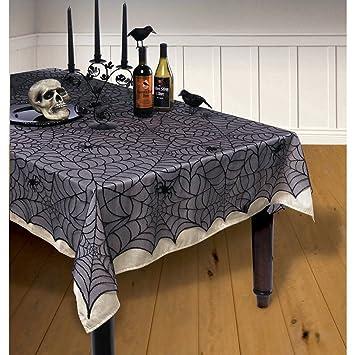 Cubremesa de Halloween - 1,5 x 2,1 m | Mantel de Mesa de Encaje ...