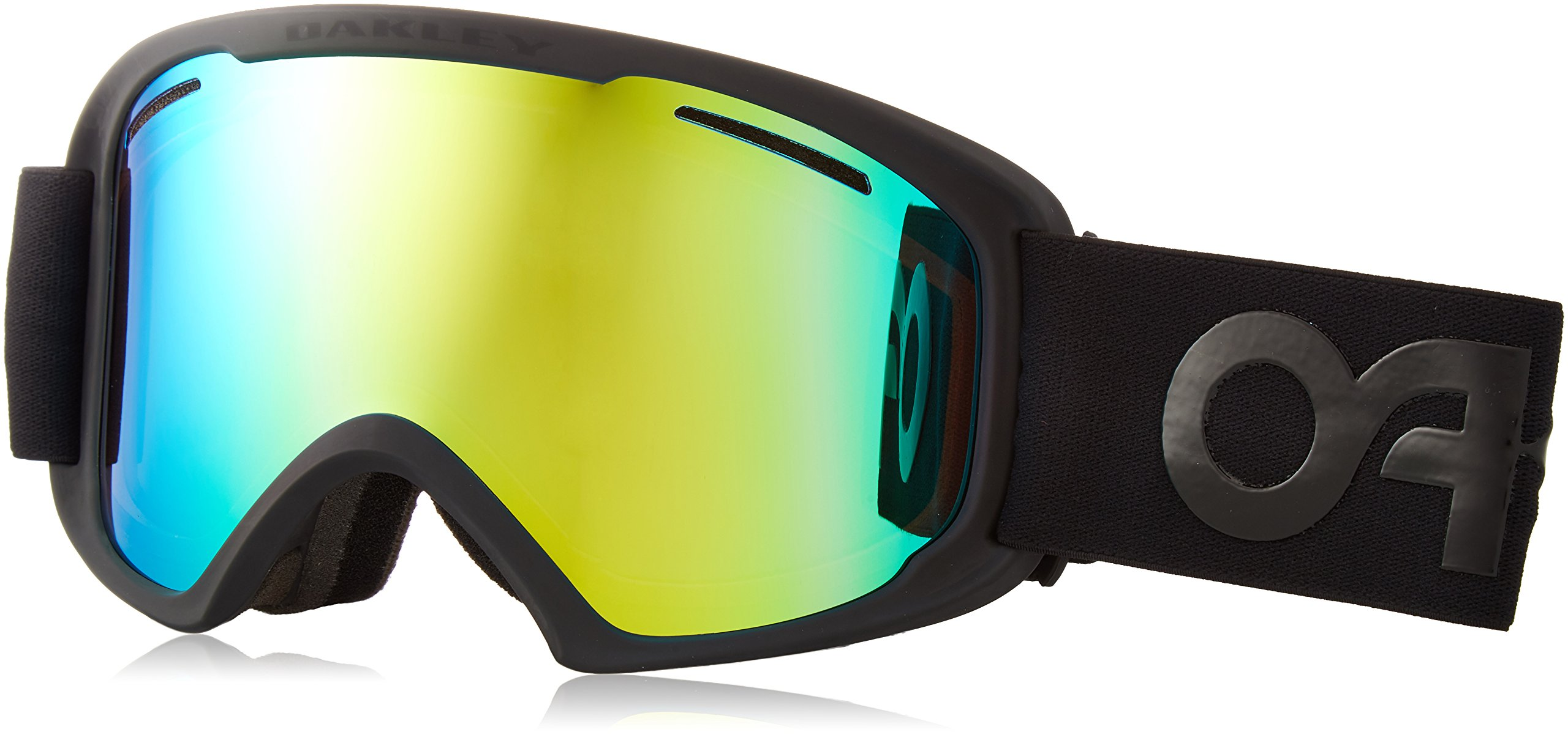 Oakley OO7045-07 O2 XL Eyewear, Factory Pilot Blackout, Jade Iridium Lens