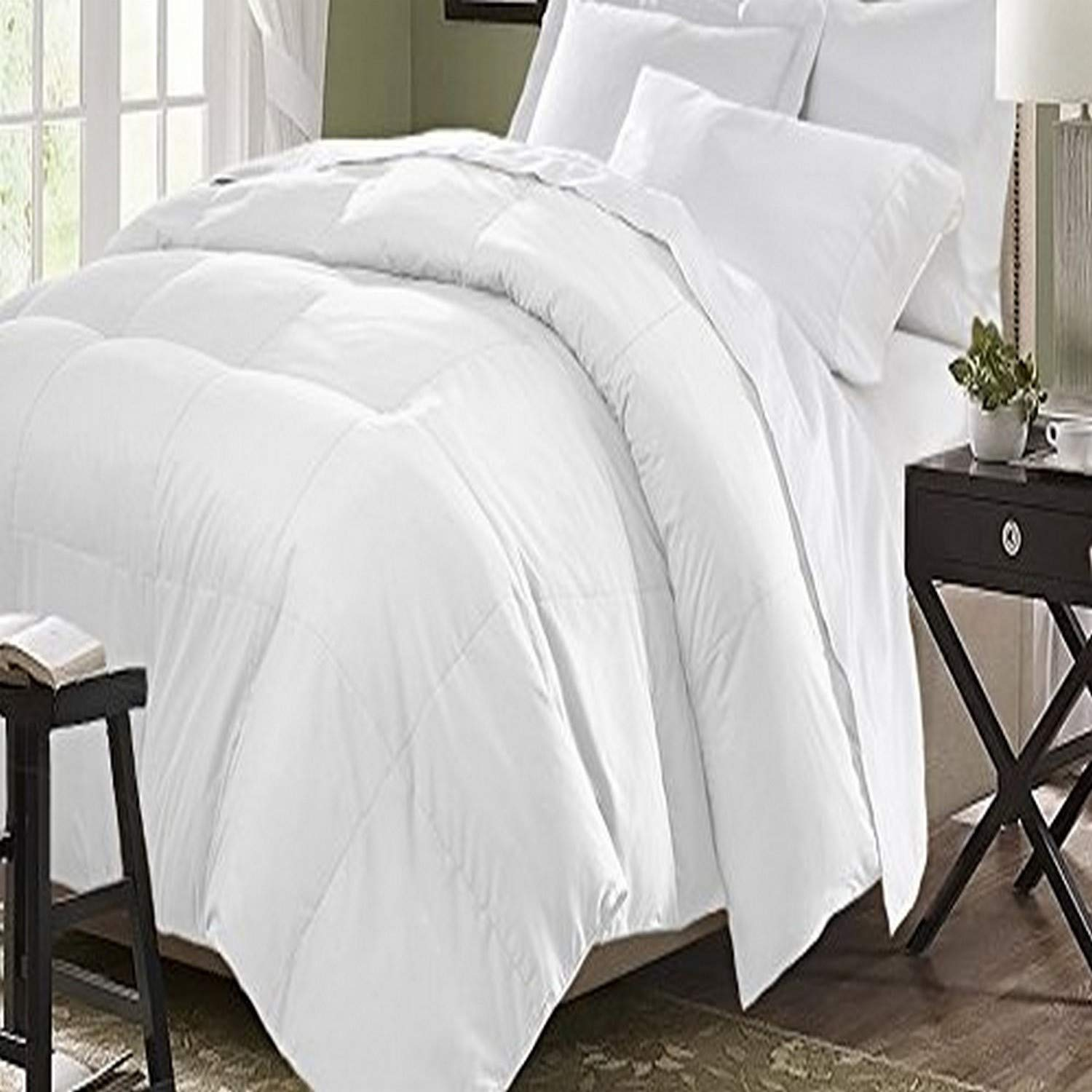 Kathy Ireland Microfiber Down Fiber King in White Color Comforter