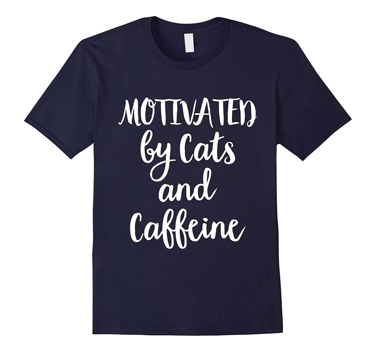 Motivated by cats and caffeine T-shirt, Love Cat Shirt-FL
