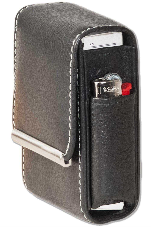 Leder Zigarettenhülle Zigarettenetui (01B) Zigarettentasche Zigarettenbox Neu