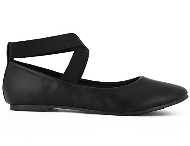 Max Muxun Womens Ankle Elastic Strap Ballerinas Dolly Flats Shoes:  Amazon.co.uk: Shoes & Bags