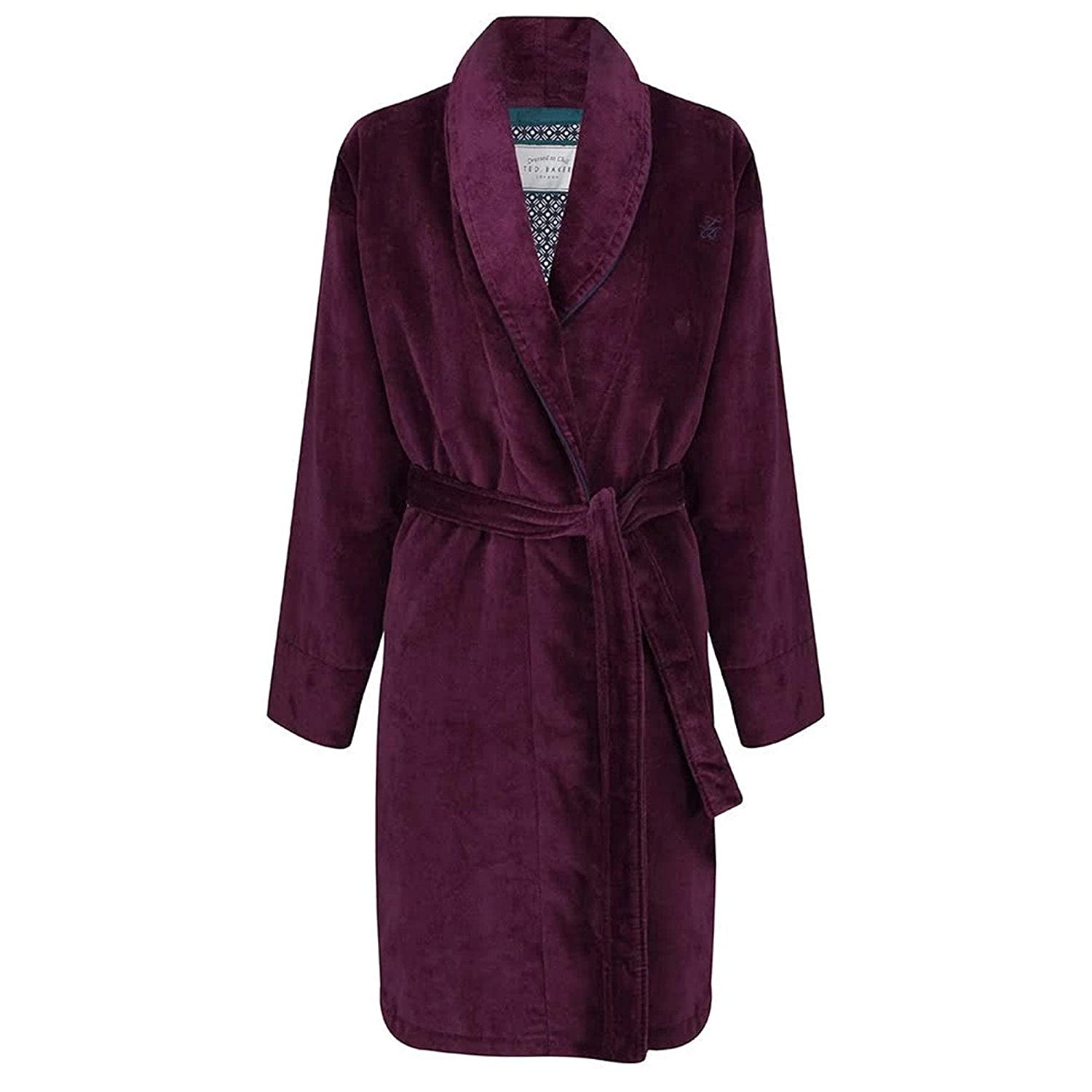 Ted Baker Dawlish Cotton Towelling Dressing Gown Deep Purple DP-PURPLE
