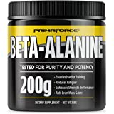 PrimaForce Beta-Alanine Powder Supplement, 200 Grams – Enables Harder Training/Improves Muscle Gains/Increases Workout Capacity/Reduces Muscle Fatigue