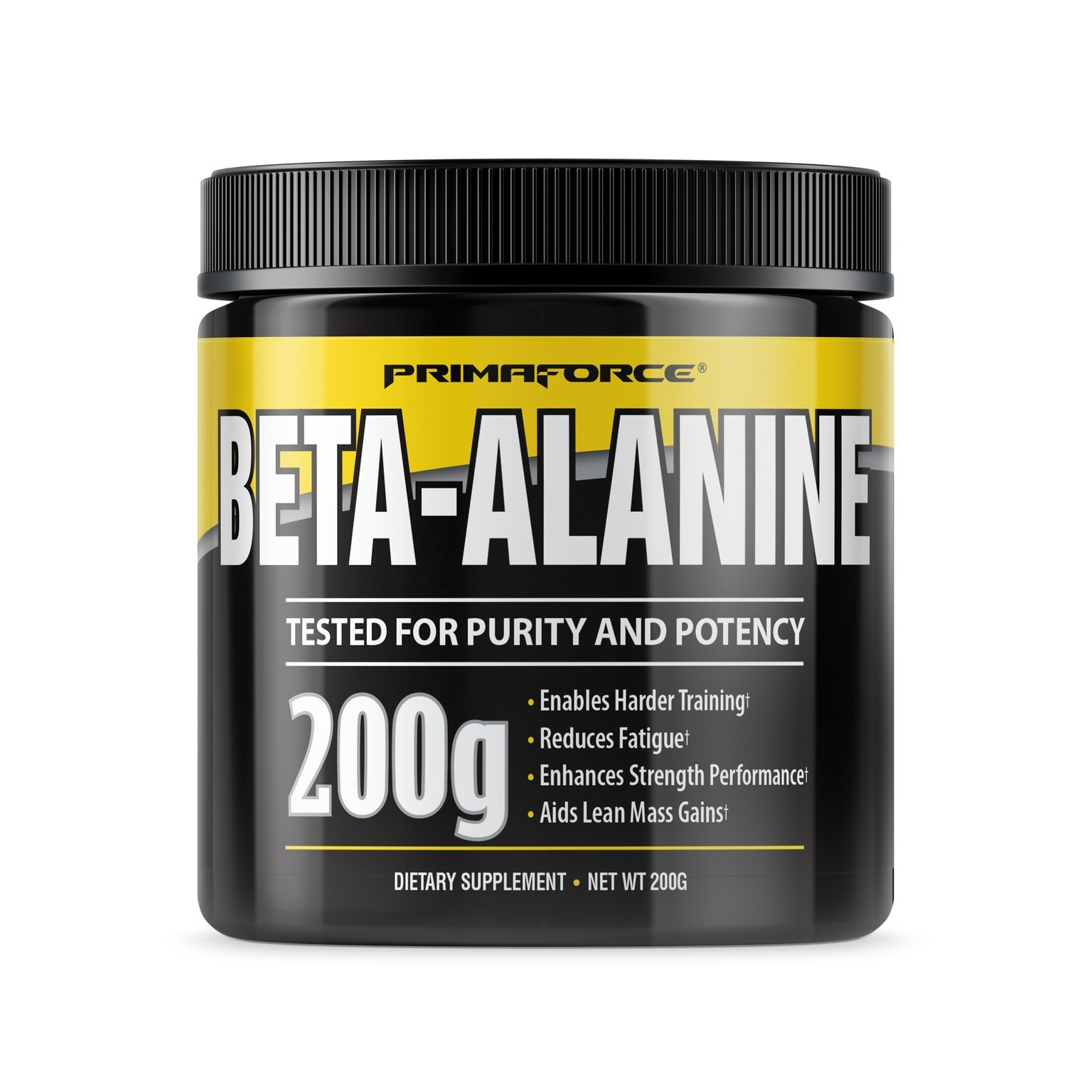 PrimaForce Beta-Alanine Powder Supplement, 200 Grams – Enables Harder Training / Improves Muscle Gains / Increases Workout Capacity / Reduces Muscle Fatigue