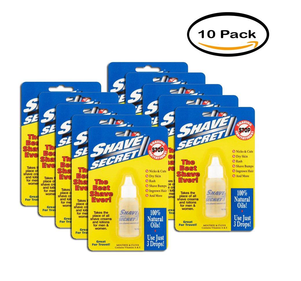 PACK OF 10 - Shave Secret The Best Shave Ever Natural Oils, 18.75 mL