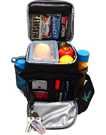 ab8194dd9608 Large Insulated Lunch Bag for Men and Women with Room for More Meals and  Snacks.