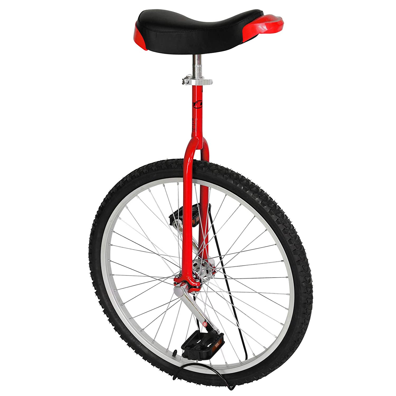 Black//Blue T4B Freestyle Unicycle 24-Inch Wheel Leakproof Butyl Wheel Tire