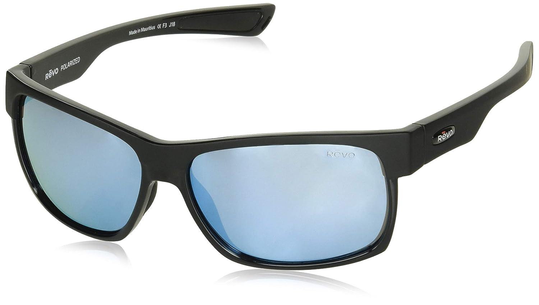 Revo Eyewear Camden高度なハイコントラスト偏光サングラス  マットブラック B075QQ1LP6