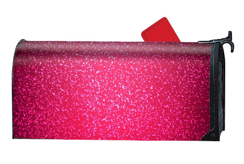 KSLIDS Light Pink Glitter Decorative Garden Mailbox Cover Magnetic Standard