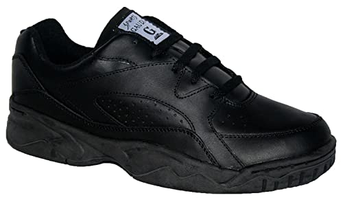Zapatillas de hombre, de piel, suela antideslizante, color Negro, talla 45 EU