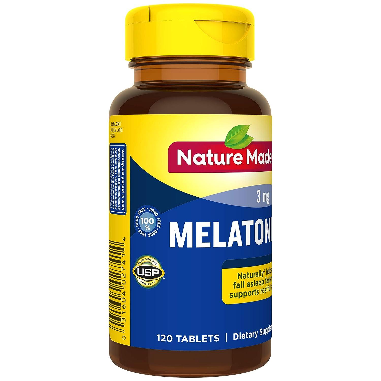 Nature Made Melatonin 3 mg Tablets 120 Ct