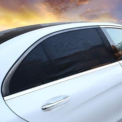 Aimoll 2pcs Car Window Shade Breathable Windshield Sun Shade-Adjustable  Universal Fit Mesh Side Window 24e40c7440a