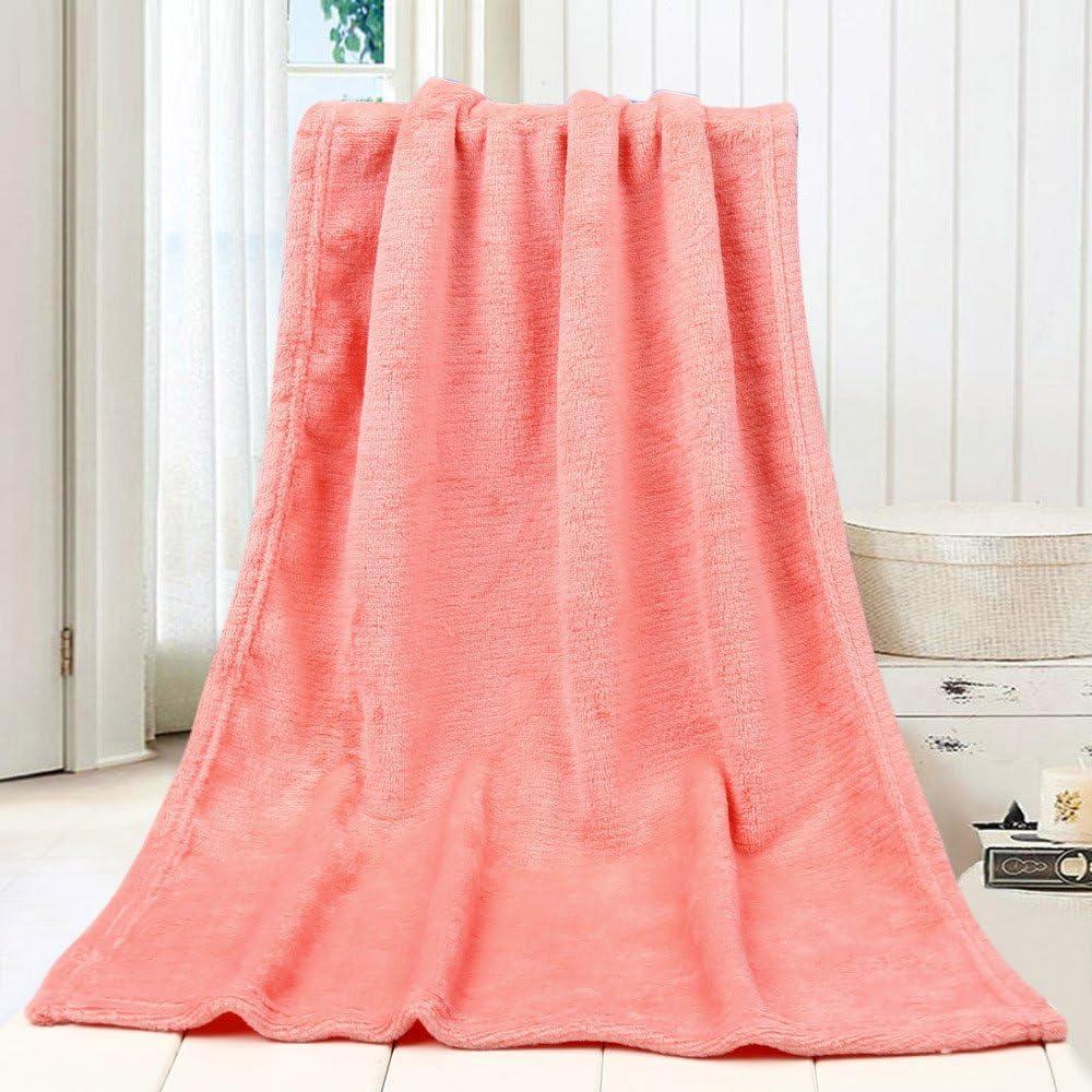 Hide on bush 45X65CM Fashion Solid Soft Throw Kids Blanket Warm Coral Plaid Blankets Flannel Beige