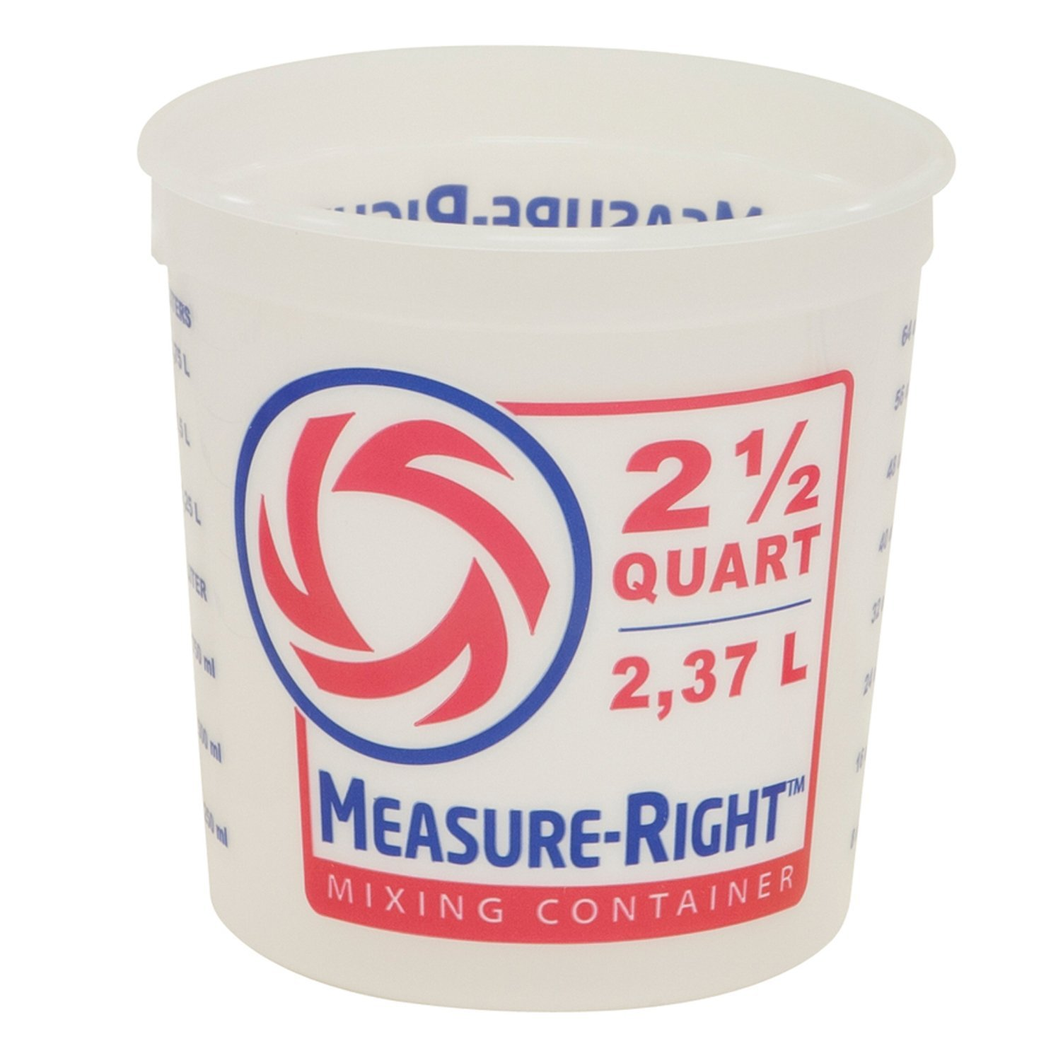 United Solutions 2 1/2 Quart Residential Paint Bucket Measure-Right Mixing Container Painters MR Mixing Pail by United Solutions