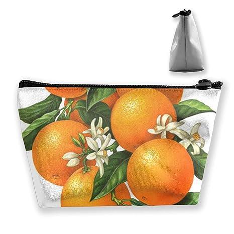 Amazon.com: Maple Memories Cute Orange Fruit Travel Cosmetic ...