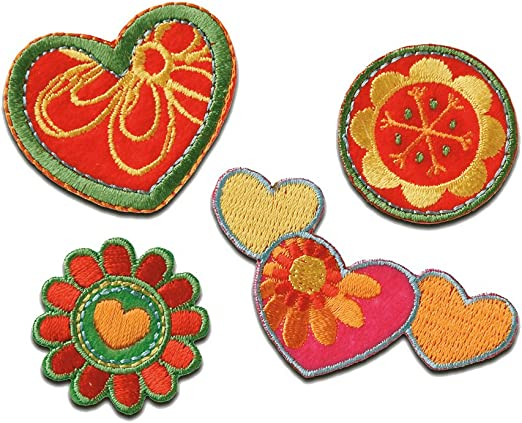 DIY Aufnäher Bügelbilder Schmetterling Blume Aufbügler Patches Bügelflicken