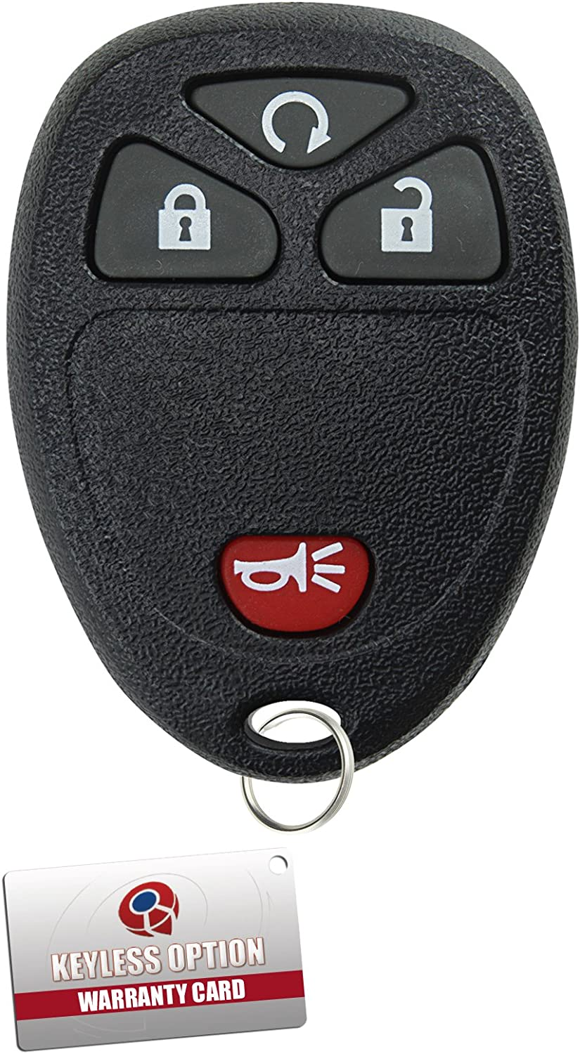 KeylessOption Keyless Entry Remote Control Car Key Fob Replacement for 15114374 Blue